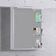 Зеркальный шкафчик с подсветкой ШЗ-8 Буль-Буль Белый