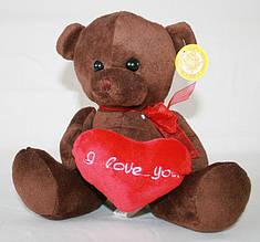 Игрушка медведь мягкий с сердцем Сонечко