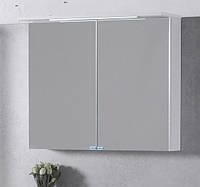 Зеркальный шкаф с подсветкой Буль-Буль ШЗ-10 Белый 80см