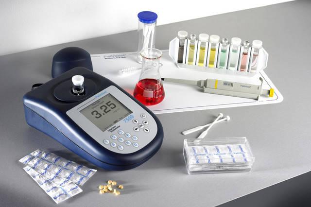Асортимент приладів для аналізу води
