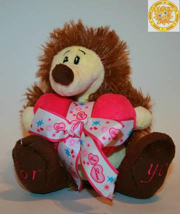 Мягкая игрушка ежик с сердцем Сонечко 93714 , фото 2