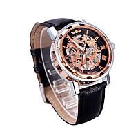 Механические часы Winner Skeleton gold-black