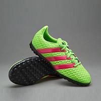 Детская футбольная обувь (многошиповки)  Adidas  ACE 16.4 TF J, фото 1