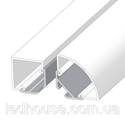 LED профиль ЛСУ Системный угловой с Рассеивателем