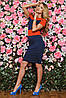 Трикотажное двухцветное женское платье (Bler sk), фото 6