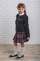 Стильная школьная форма для девочки юбка+жакет