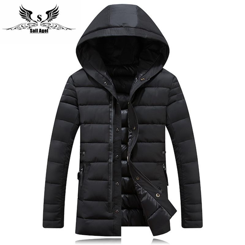Мужской зимний пуховик куртка. Модель 725