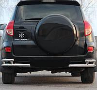 Защита заднего бампера Двойные углы на Toyota Rav-4 (2006-2012)