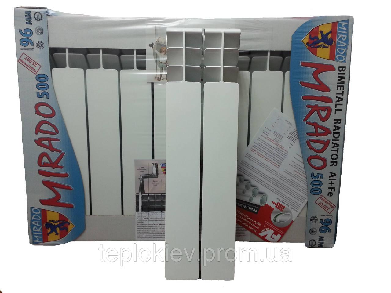 Биметаллические радиаторы Mirado Мирадо 500 30 атмосфер - «ТЕПЛОКИЕВ» Всё для отопления и водоснабжения в Киеве