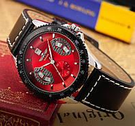 Мужские механические часы Winner F1 красный циферблат
