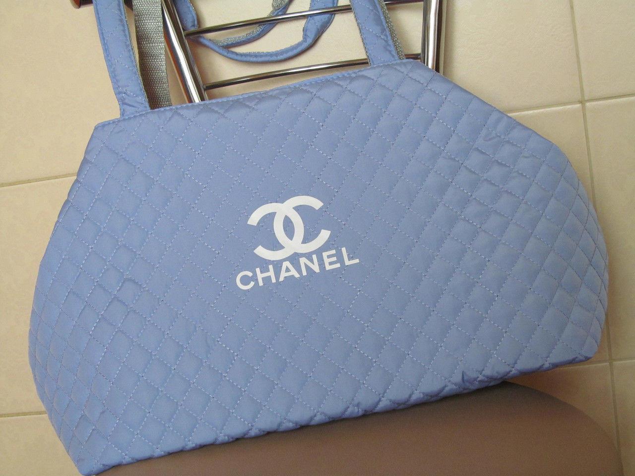 Сумка женская Chanel (Шанель), голубая