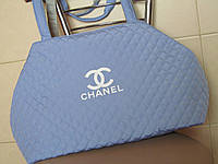 Сумка женская ch-nel (в стиле Шанель), голубая