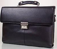 Солидный мужской портфель из натуральной кожи KARYA (КАРИЯ) SHI0152, черный