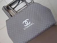 Сумка женская Chanel (Шанель), светло-серая