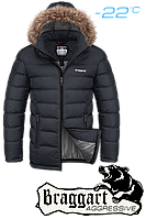 Куртка Braggart Aggressive зимняя коротка капюшон с мехом