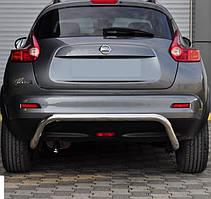 Защита заднего бампера на Nissan Juke (c 2010--)