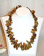 Яркое Ожерелье из Золотого АГАТА