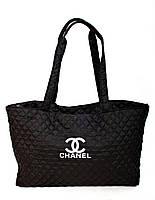 Чёрная стёганая женская сумка