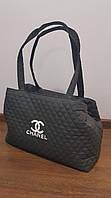 Сумка женская Chanel (Шанель), тёмно-серая