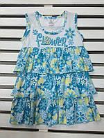 Платье для девочки хлопковое летнее рост 104