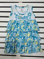 Платье для девочки хлопковое летнее рост 104 , фото 1