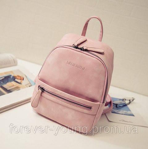 28e7e287b1f2 Женский рюкзак кожзам розовый - Интернет-магазин