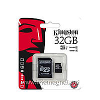 Карта памяти mSD Kingston 32Gb (+адаптер+блистер) A-SD-32-03(микро сд)