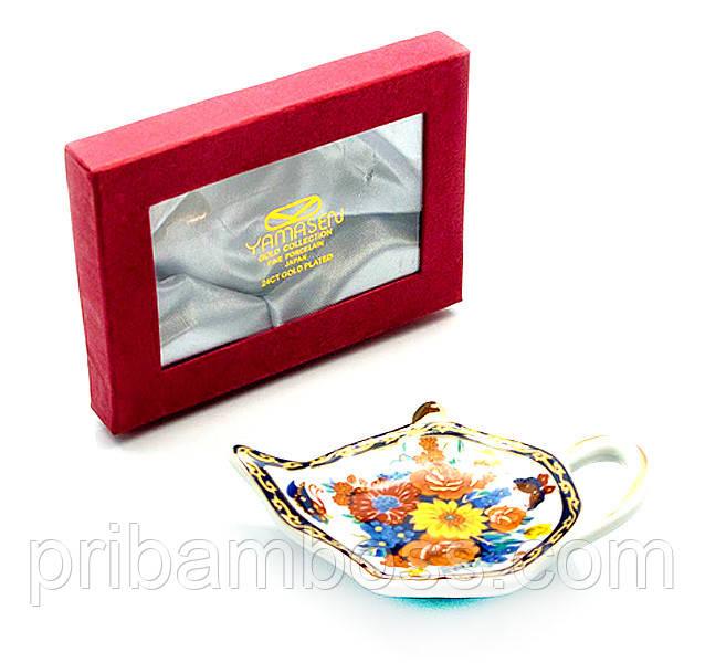 """Подставка под чайные пакетики """"Цветы"""""""