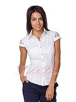 Рубашка с гипюром белая