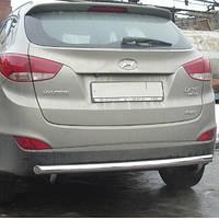 Защита заднего бампера на Hyundai IX-35 (c 2010--)