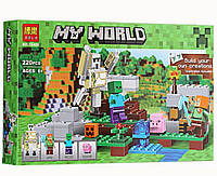 Конструктор Bela серия My World 10468 Железный Голем (аналог Lego Майнкрафт, Minecraft 21123)