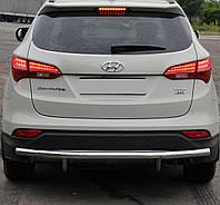 Защита заднего бампера на Hyundai Santa Fe (c 2013--)