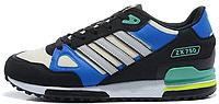 Мужские кроссовки Adidas ZX 750 (адидас) сине-черные