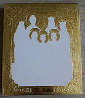 Позолота сусальным золотом нимбов и фонов икон. Гравировка фона на заказ.