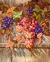 Схема для вышивки бисером POINT ART Виноград, размер 21х26 см