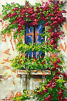Схема для вышивки бисером POINT ART Старинный дворик, размер 20х30 см