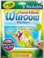 Маркеры Window Crystal Effects рисунки по стеклу эффект кристаллов, 8 цветов, Crayola