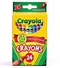 24 цветных восковых мелка карандаша, Crayola