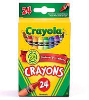 Крайола цветные восковые мелки карандаши, в наборе 24 цвета, Crayola