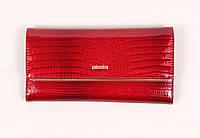 Женский кошелек Cossroll в красном цвете, кожа