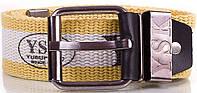 Стильный мужской текстильный ремень 4,5 см. Y.S.K. (УАЙ ЭС КЕЙ) SHI-T-3, желтый