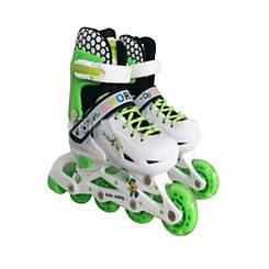 Ролики детские Babyhit светящиеся колеса - Зеленый (размеры S, M)