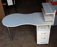 Маникюрный складной столик с тумбой на роликах V63
