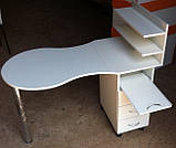 Маникюрный складной столик с тумбой на роликах V63, фото 2