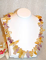 Ожерелье из Натурального ЦИТРИНА и АМЕТИСТА