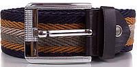 Практичный мужской текстильный ремень 4,5 см. Y.S.K. (УАЙ ЭС КЕЙ) SHI-T-7, разноцветный