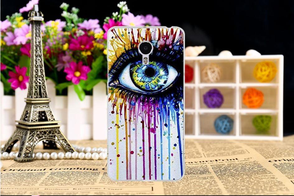 """Оригинальный чехол накладка для Meizu M3 с картинкой """"Нарисованный глаз"""""""