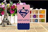 """Оригинальный чехол накладка для Meizu M3 с картинкой """"Superwoman"""""""