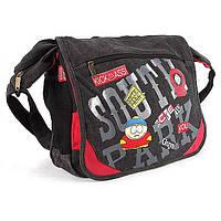 Текстильная наплечная сумка темно-серая №832sp, фото 1