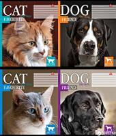 "Тетрадь школьная 18 л. Тетрада ""CAT DOG"" клетка. 81273"